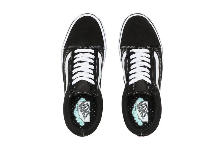 Vans Unisex Comfycush Old Skool Shoe (Classic Black/True White, Size 6.5 US)