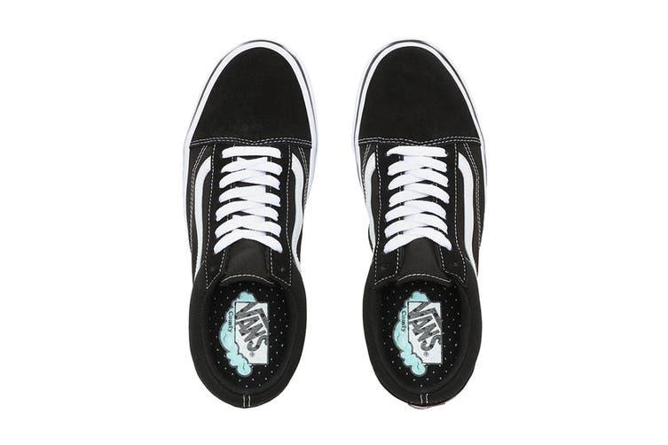 Vans Unisex Comfycush Old Skool Shoe (Classic Black/True White, Size 9 US)