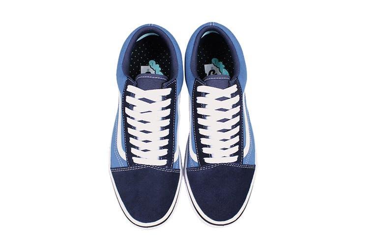 Vans Unisex Comfycush Old Skool Shoe (Classic Navy/STV Navy, Size 8.5 US)