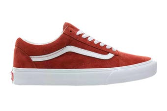 Vans Unisex Old Skool Pig Suede Shoe (Burntbrick/True White, Size 4.5 US)