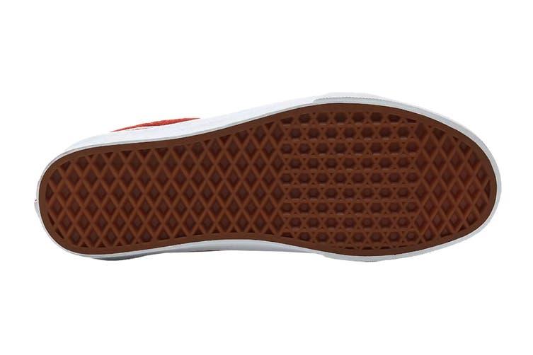 Vans Unisex Old Skool Pig Suede Shoe (Burntbrick/True White, Size 9.5 US)