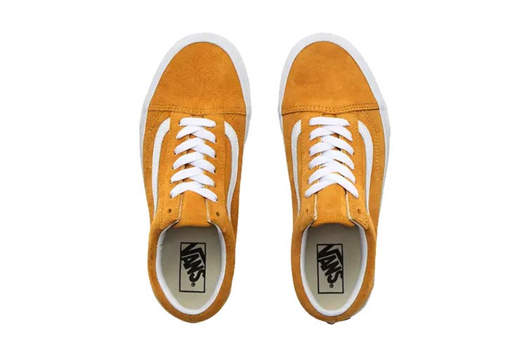 Vans Unisex Old Skool Pig Suede Shoe (Mango Mojito/True White, Size 4 US)