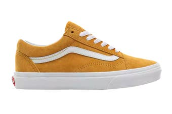 Vans Unisex Old Skool Pig Suede Shoe (Mango Mojito/True White, Size 5.5 US)