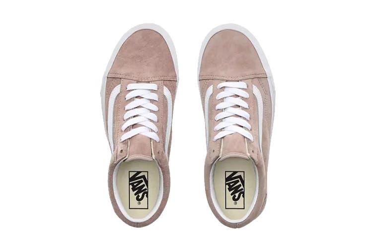 Vans Unisex Old Skool Pig Suede Shoe (Shadow Grey/True White, Size 7 US)