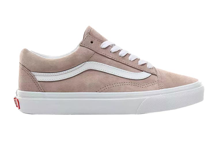 Vans Unisex Old Skool Pig Suede Shoe (Shadow Grey/True White, Size 8 US)