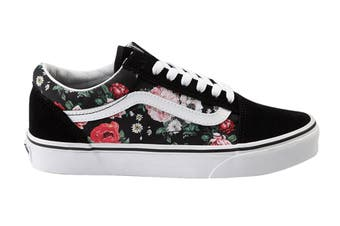 Vans Women's Old Skool Garden Floral Shoe (Black/True White)
