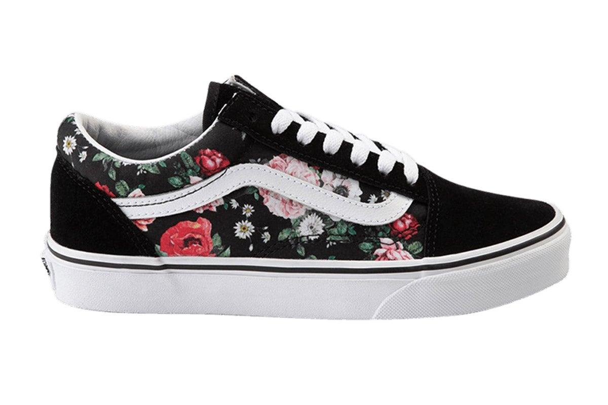 Old Skool Garden Floral Shoe (Black
