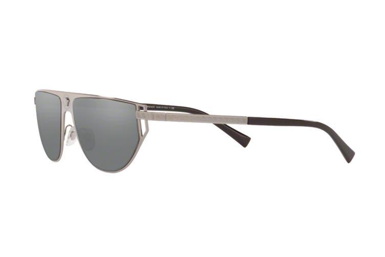 Versace 0VE2213 Sunglasses (Grey) - Grey Mirror Silver