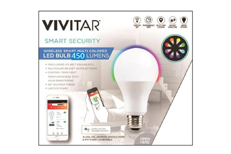 Vivitar Wireless Smart Bulb 450 Lumens Edison Fitting (LB-60-AU)