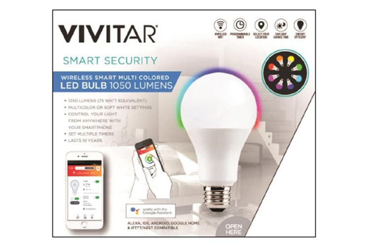 Vivitar Wireless Smart Bulb 1050 Lumens Edison Fitting (LB-80-AU)