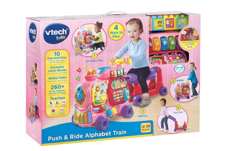 VTech Ultimate Alphabet Push & Ride Train (Pink)