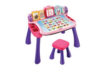 Vtech Touch & Learn 4-in-1 Delux Activity Desk Deluxe (Pink)