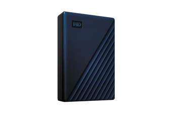 WD My Passport 4TB Portable Hard Drive for MAC - Blue