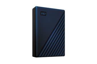 WD My Passport 5TB Portable Hard Drive for MAC - Blue