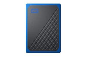 WD My Passport Go 1TB Portable SSD Hard Drive - Blue (WDBMCG0010BBT-WESN)