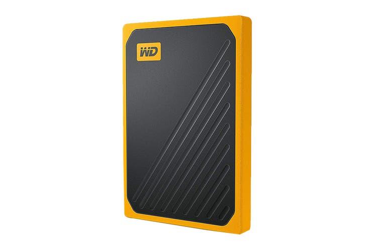 WD My Passport Go 1TB Portable SSD Hard Drive - Yellow (WDBMCG0010BYT-WESN)
