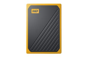 WD My Passport Go 500GB Portable SSD Hard Drive - Yellow (WDBMCG5000AYT-WESN)