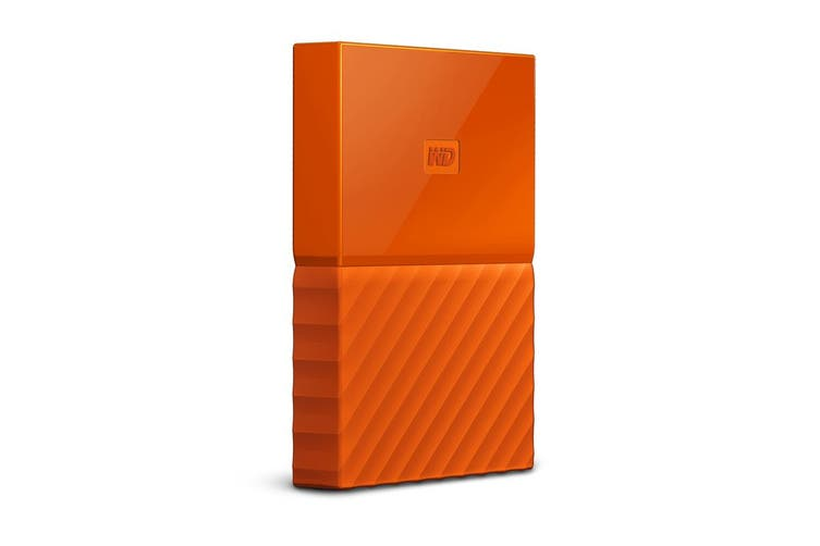WD My Passport 2TB USB 3.0 Portable Hard Drive - Orange (WDBS4B0020BOR-WESN)
