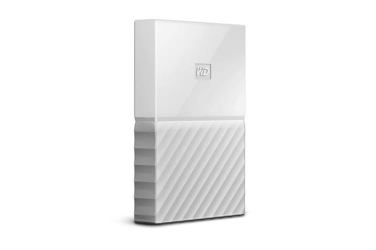 WD My Passport 2TB USB 3.0 Portable Hard Drive - White (WDBS4B0020BWT-WESN)