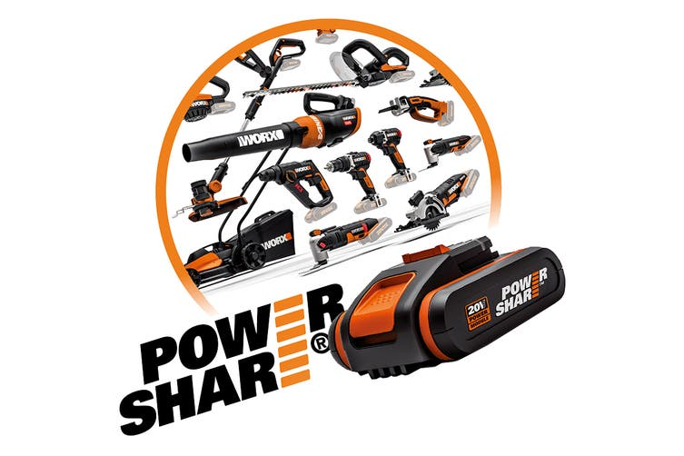 WORX 20V MAX Cordless Blower with 20v 2.0Ah Battery & Fast Charger (WG549E.5)