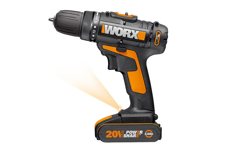 WORX 20V Drill Driver with 35pc Accessory Kit (WX101.5)
