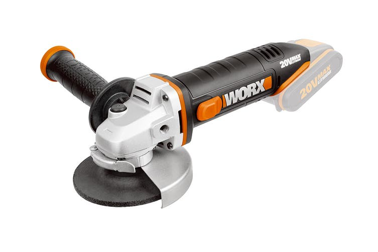 WORX 20v 115mm Cordless Angle Grinder (WX800.9) - Skin Only
