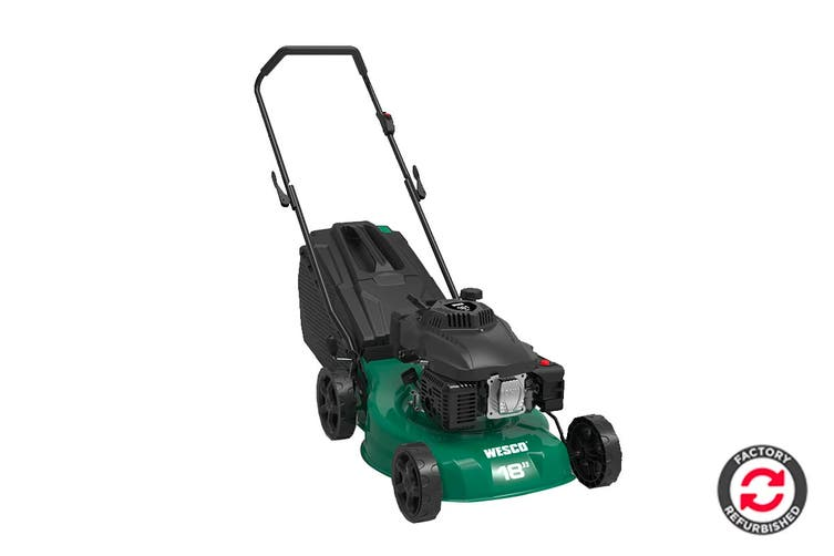 Wesco 161CC 4 Stroke Petrol Lawn Mower with 55 Litre Hard Catcher (Refurbished)