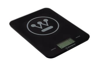 Westinghouse Slimline Digital Kitchen Scales with 8kg Capacity -  Black