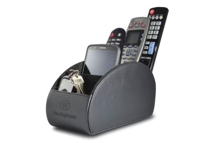 Westinghouse Large 5 Pocket Remote Control Holder - Black