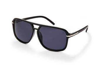 Winstonne Malin in Black and Grey Polarised Sunglasses (Black)