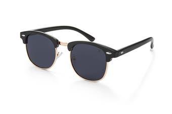 Winstonne Apollo in Black Polarised Sunglasses (Black)