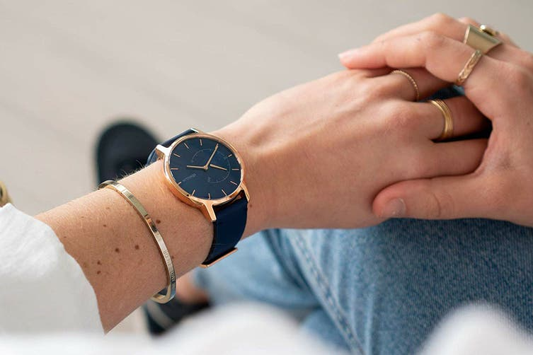 Withings Move Smart Activity Tracker (Timeless Chic - Blue/Rose Gold)