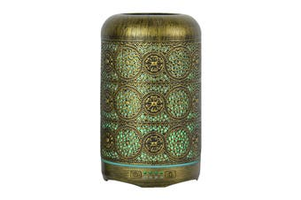 mbeat activiva Metal Essential Oil and Aroma Diffuser (Vintage Gold, 260ml)