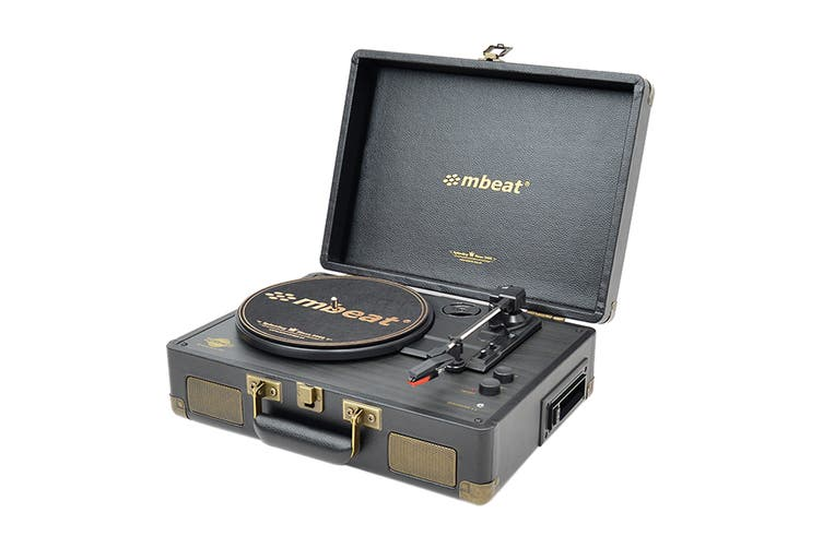 mbeat Uptown Retro Bluetooth Turntable & Cassette Player (MB-TR166BLK)