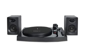 mBeat Pro-M Stereo Turntable Player System with Bluetooth Stereo Speakers - Black