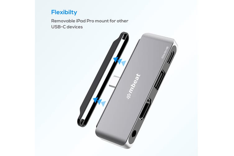 mbeat Elite Mini 4-In-1 USB-C Mobile Hub for iPad Pro, USB-C Tablet & Laptop