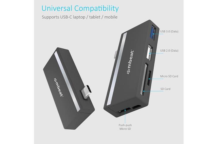 mbeat Essential 5-IN-1 USB- C Hub (MB-UCH-27GRY)