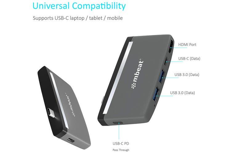 mbeat Essential Pro 5-IN-1 USB- C Hub (MB-UCH-59GRY)