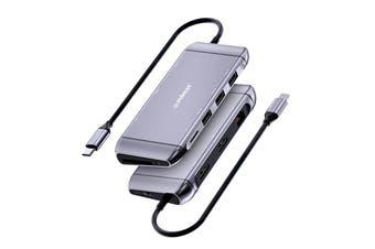 mBeat Elite X11 Dual HDMI 9-in-1 USB-C Docking Station (Space Grey)