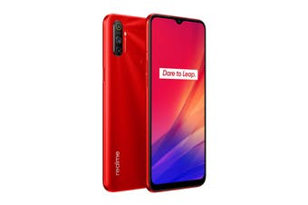 realme C3 (64GB, Blazing Red)