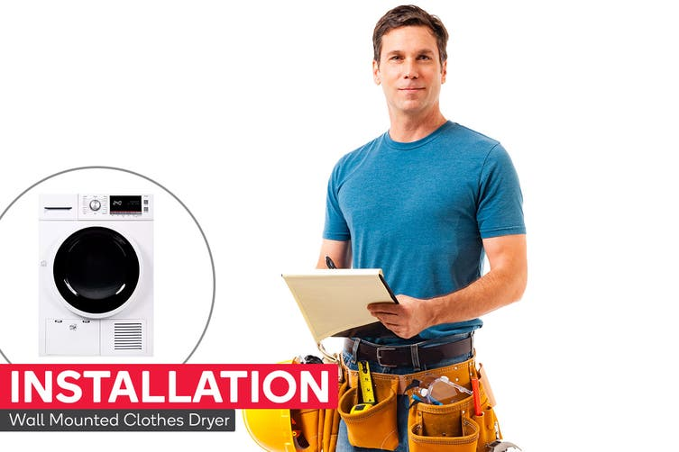 Clothes Dryer Installation - Wall Mounted