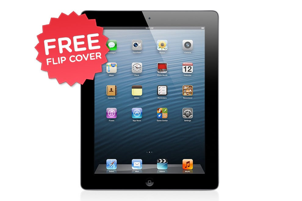 iPads - Apple iPad 4 with Retina Display (16GB, 4G, Black) - Apple Certified Refurbished + FREE Flip Cover
