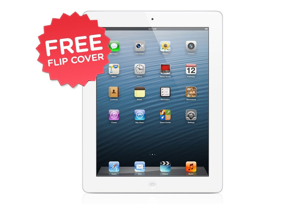 iPads - Apple iPad 4 with Retina Display (16GB, 4G, White) - Apple Certified Refurbished + FREE Flip Cover
