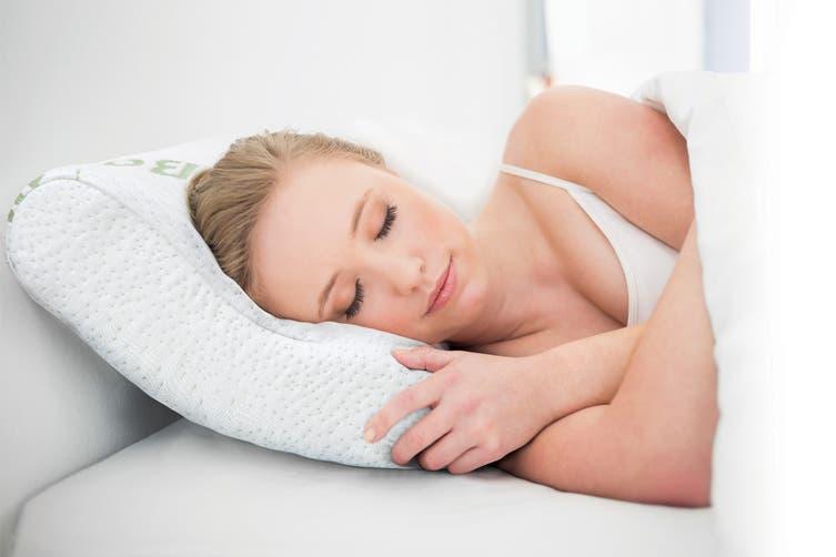 Royal Comfort Set of 2 Bamboo Memory Foam Contoured Pillows