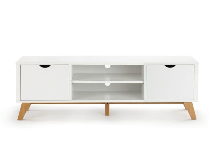 Ovela 2 Drawer TV Entertainment Unit - Finse Collection (150cm, White)