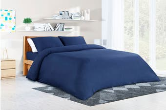 Ovela 100%  Bamboo Quilt Cover Set (King, Ocean Blue)