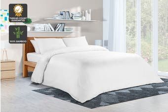 Ovela 100% Bamboo Quilt Cover Set (King, White)