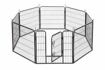 Pawever Pets Premium 8 Panel Metal Pet Playpen
