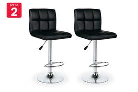 Ovela Set of 2 L Shape Bar Stools