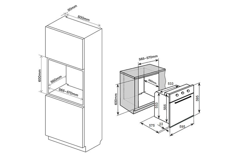 Kogan 60cm Electric Built-in Oven (9 Functions)